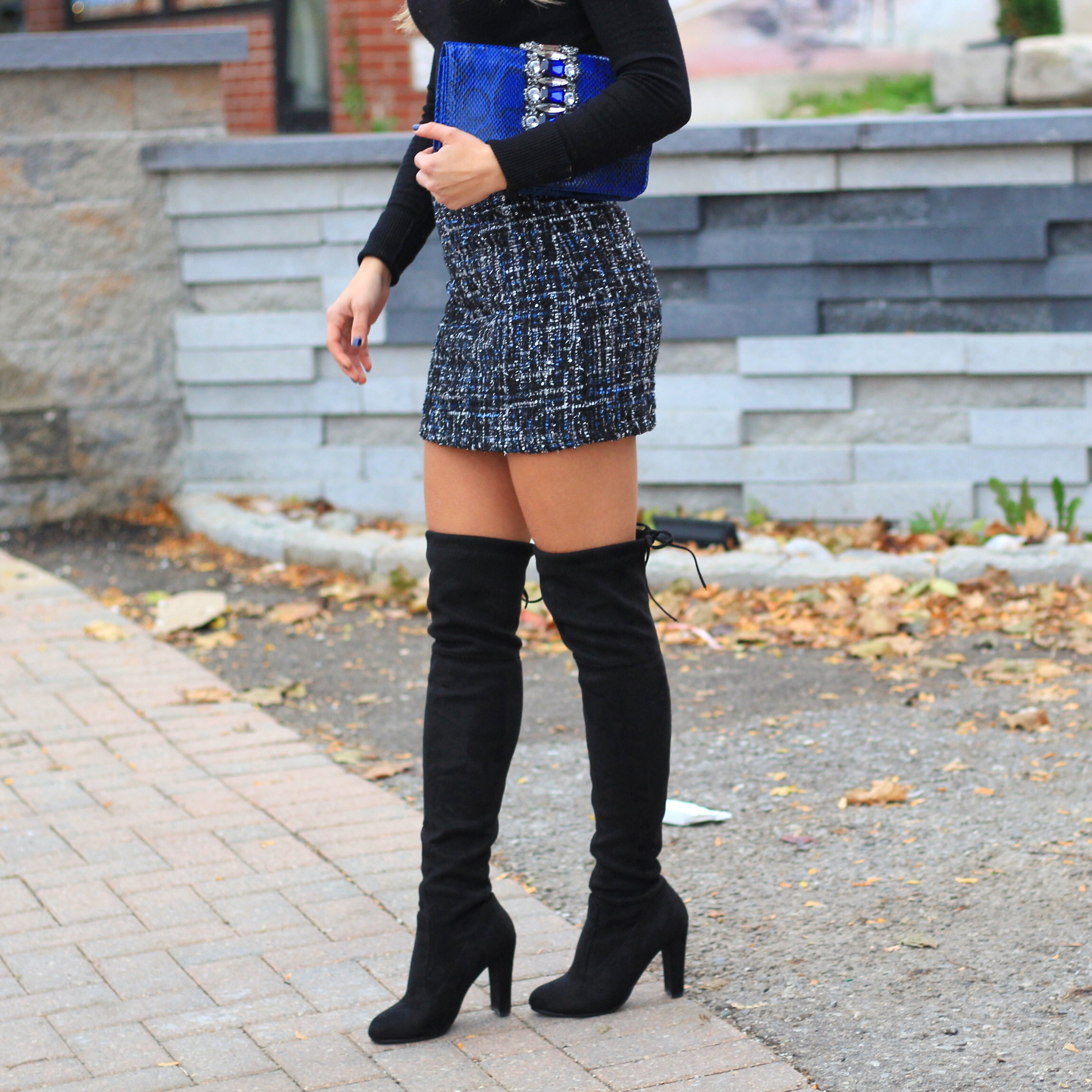 Skirt and Over The Knee Boots , Style Not Brand